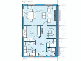 Doppelhaus 139 von Hanse Haus Grundriss 1