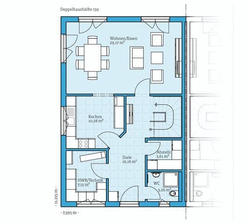 Hanse - Doppelhaus 139 Floorplan 1
