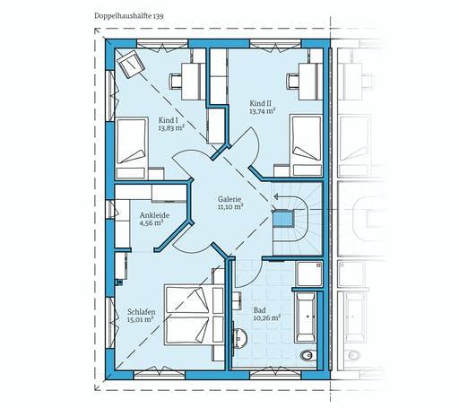 Hanse - Doppelhaus 139 Floorplan 2