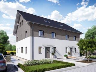 Doppelhaus 35-176 von Hanse Haus Außenansicht 1
