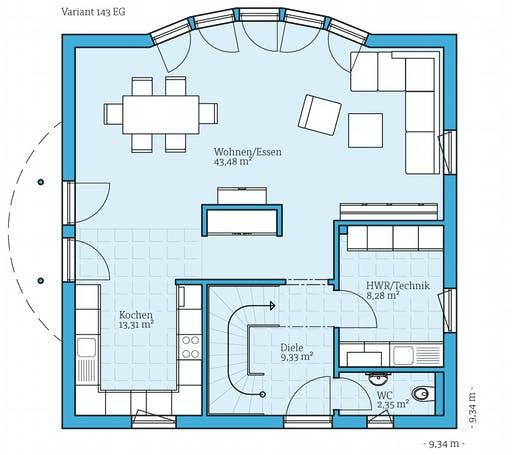 Hanse - Variant 143 Floorplan 1