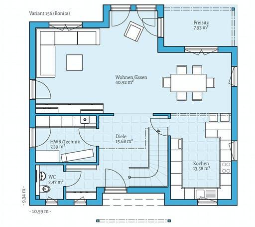 Hanse - Variant 156 Floorplan 1