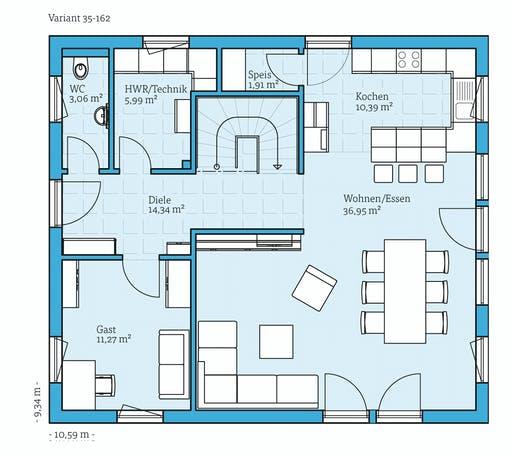 Hanse - Variant 35-162 Floorplan 1
