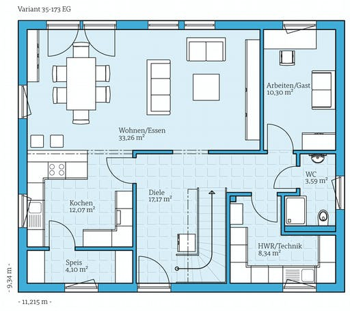 Hanse - Variant 35-173 Floorplan 1