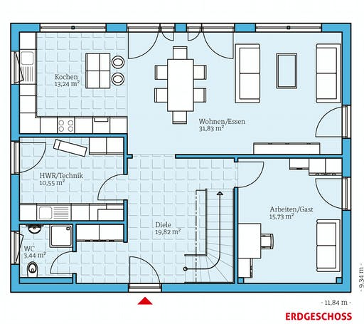 Hanse - Variant 35-184 Floorplan 1