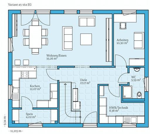 Hanse - Variant 45-164 Floorplan 1