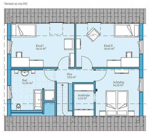 Hanse - Variant 45-164 Floorplan 2