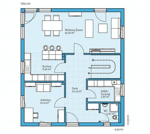 Hanse - Villa 167 Floorplan 1