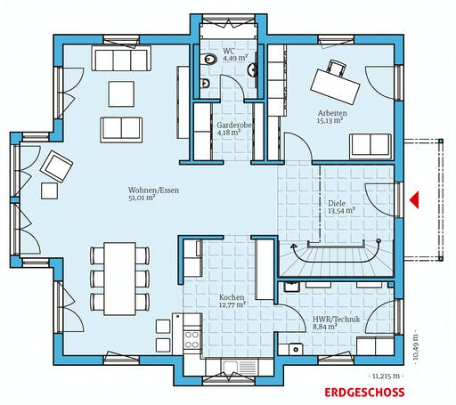 Hanse - Villa 207 Floorplan 1