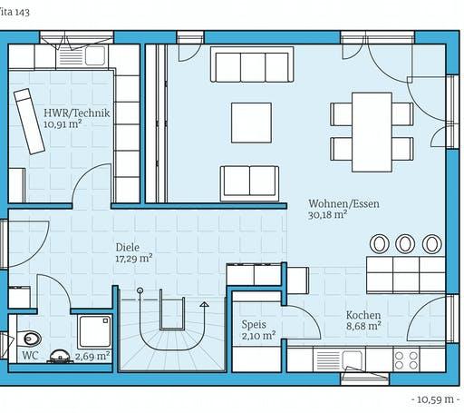 Hanse Vita 143 Floorplan 1