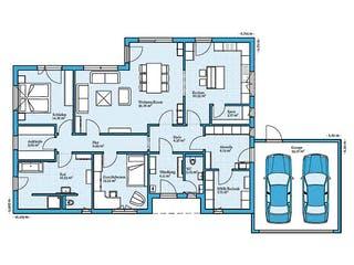 Bungalow 148 von Hanse Haus Grundriss 1