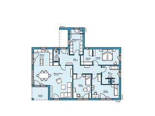 Bungalow 154 von Hanse Haus Grundriss 1