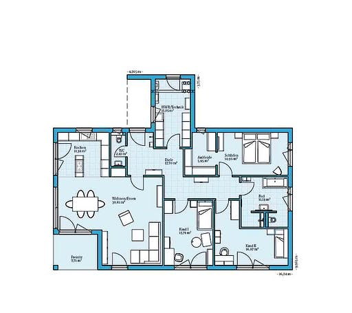 Hanse - Bungalow 154 Floorplan 1