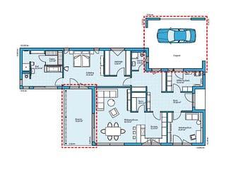 Bungalow 157 von Hanse Haus Grundriss 1