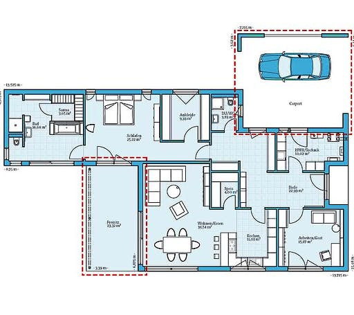 Hanse - Bungalow 157 Floorplan 1