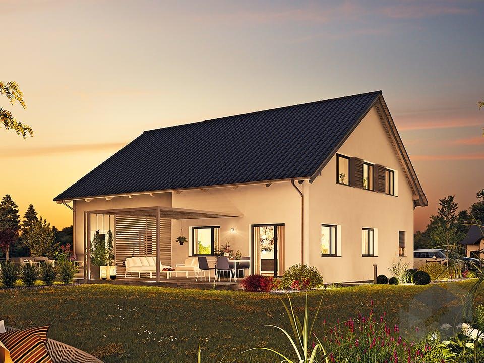Doppelhaus 35-124 von Hanse Haus Außenansicht