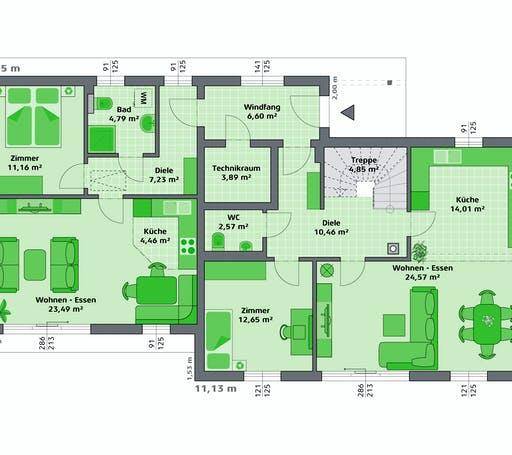 Hartl Haus - Ambition 152 S + ELW Floorplan 1