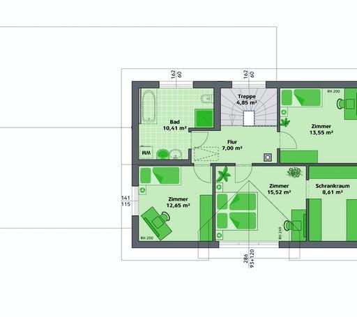 Hartl Haus - Ambition 152 S + ELW Floorplan 2