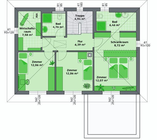 Hartl Haus - Ambition 157 W Floorplan 2
