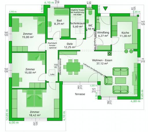 Hartl Haus - Avantgarde 132 P Floorplan 1
