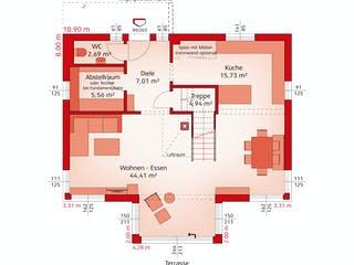 Classic 157 S von HARTL Haus Grundriss 1