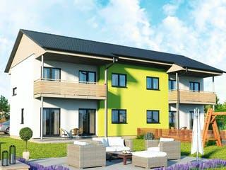 Doppelhaus 120 S von HARTL Haus Außenansicht 1