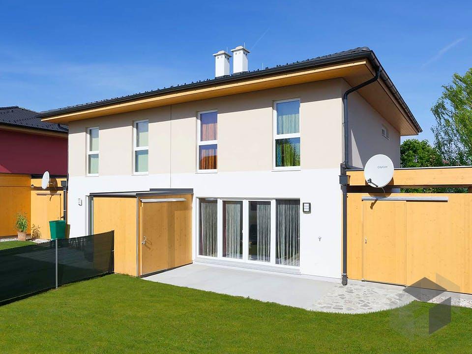 Doppelhaus 120 W von HARTL Haus Außenansicht