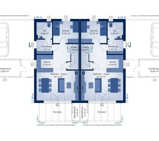 Hartl Haus - Doppelhaus 120 W Floorplan 1
