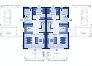 Doppelhaus 120 W Grundriss