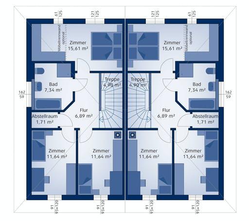 Hartl Haus - Doppelhaus 120 W Floorplan 2