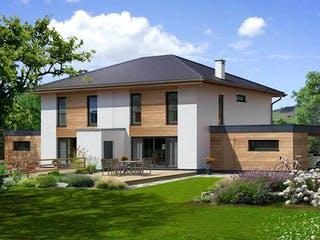 Doppelhaus 140 W von HARTL Haus Außenansicht 1