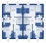Doppelhaus 140 W Grundriss
