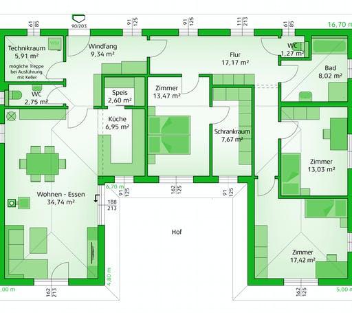 Hartl Haus - Elegance 140 W Floorplan 1