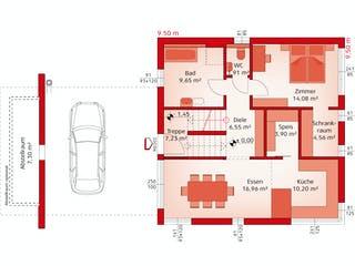 Liberty 199 F von HARTL Haus Grundriss 1
