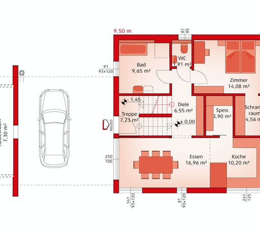 Hartl Haus - Liberty 199 F Floorplan 1