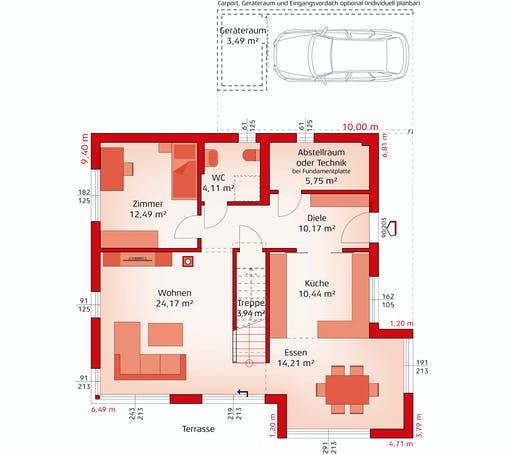 Hartl Haus - Style 163 W Floorplan 1