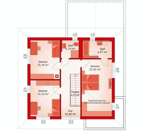 Hartl Haus - Style 163 W Floorplan 2