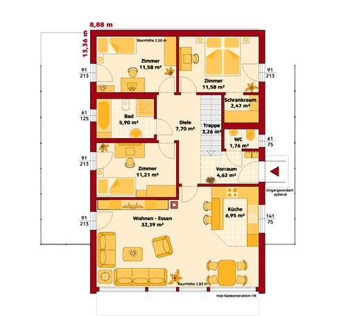 Hartl - Trend 100 P Floorplan 1