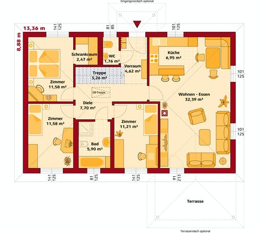 Hartl Haus - Trend 100 W Floorplan 1