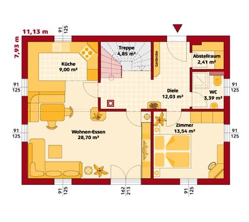 Hartl - Trend 146 S Floorplan 1