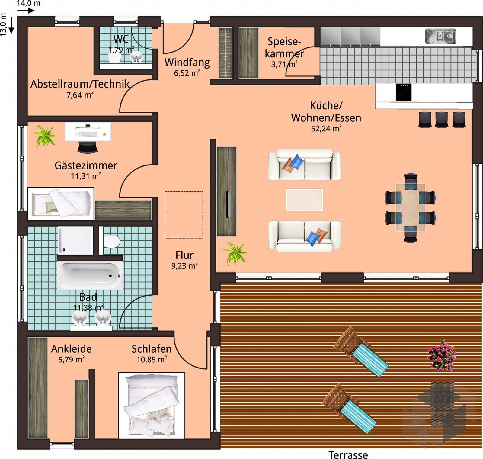 haus 124 inactive von talbau haus komplette daten bersicht. Black Bedroom Furniture Sets. Home Design Ideas