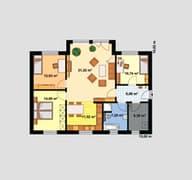Haus für Drei Grundriss