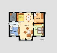 Haus für Zwei Grundriss