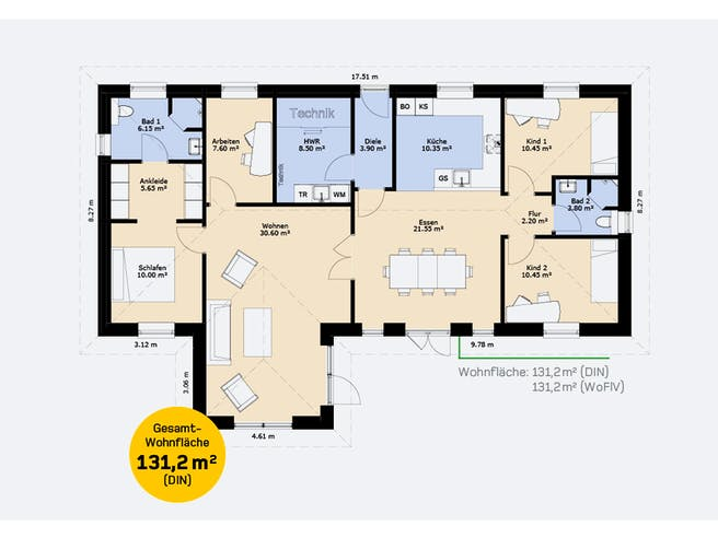 Hauscompagnie Bungalow 131 Floorplan 1