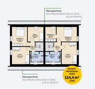 Doppelhaus 114 Grundriss