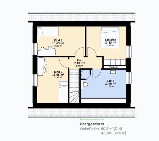 Hauscompagnie EFH 126 A Floorplan 2