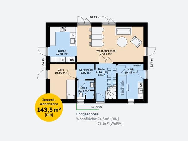 Hauscompagnie EFH 143 Floorplan 1