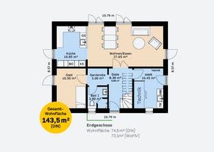 Einfamilienhaus 143 Grundriss