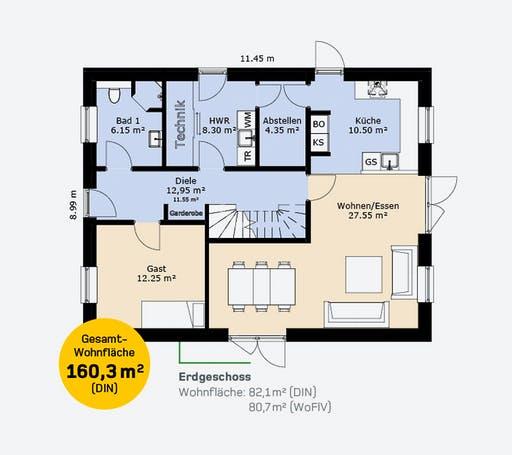 Hauscompagnie EFH 160 Floorplan 1