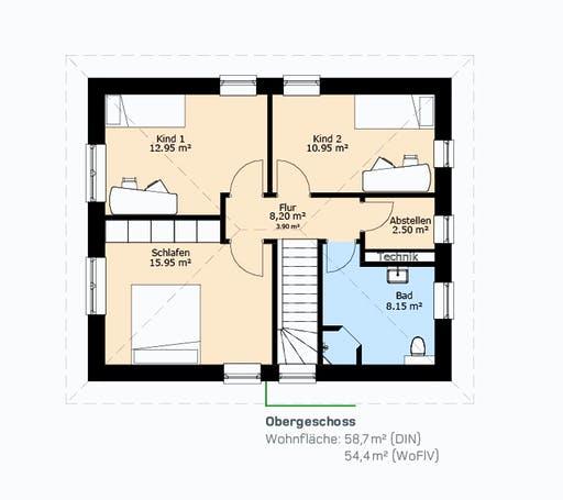 Hauscompagnie Stadtvilla 118 Floorplan 2
